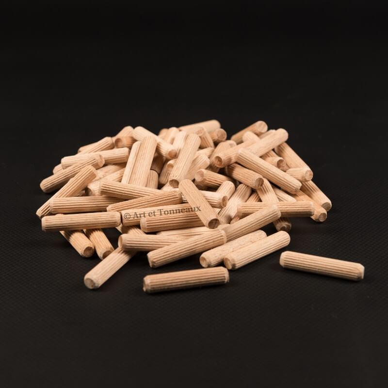 Tourillons bois 8x40 - 100 pièces