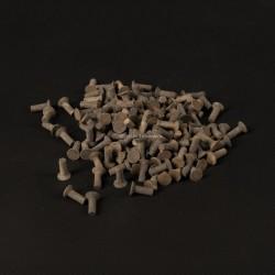 Rivets fer tête fraisée 4x12mm - 20 pièces