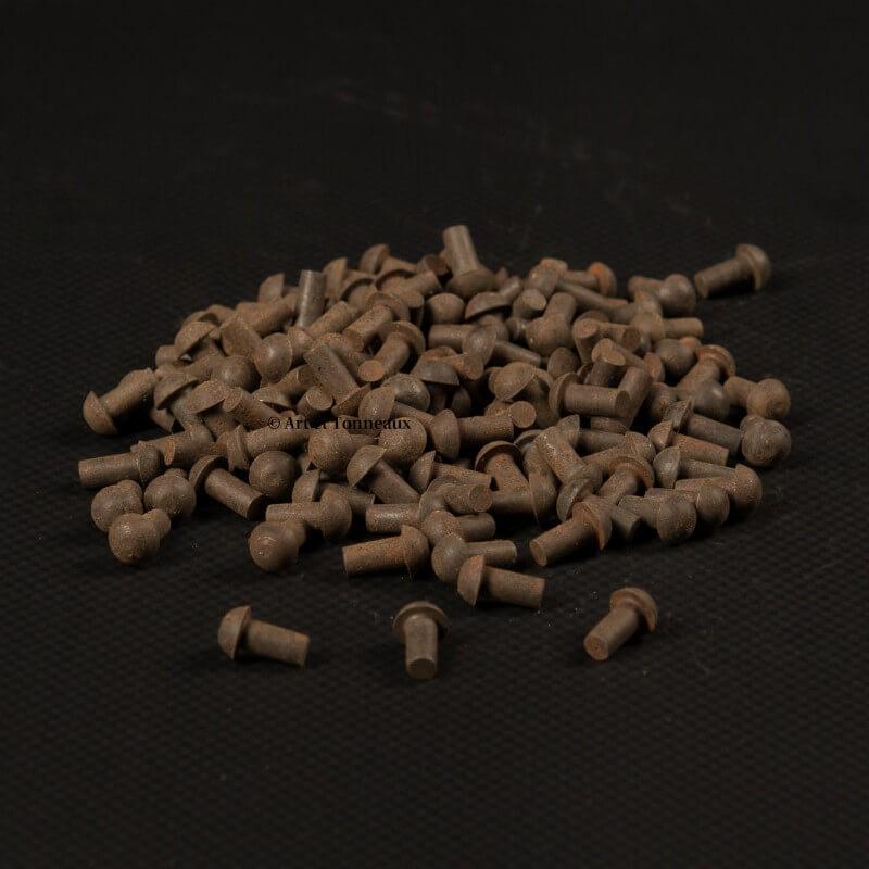 Rivets fer tête ronde 4x8mm - 20 pièces