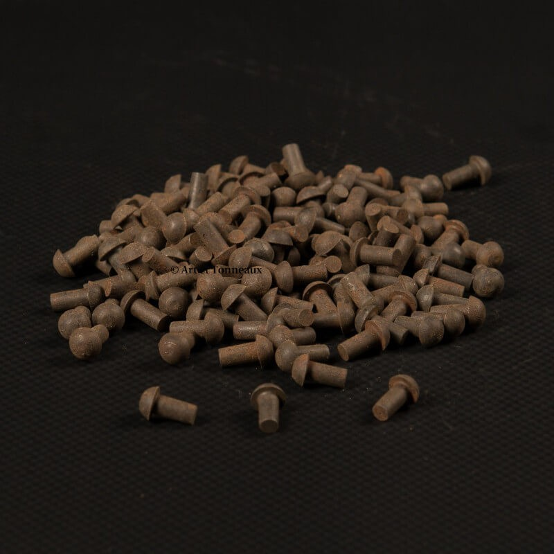 Rivets fer tête ronde 4x8mm - 100 pièces