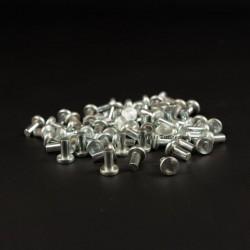 Rivets zinc tête plate 6x12mm - 20 pièces