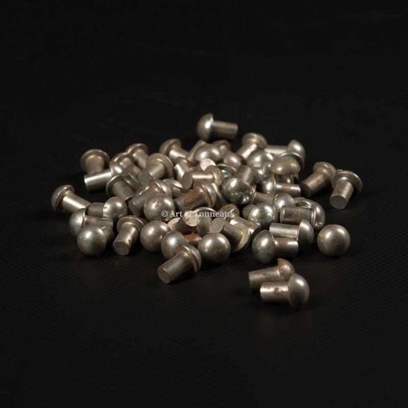 Rivets zinc tête ronde 6x10mm - 100 pièces