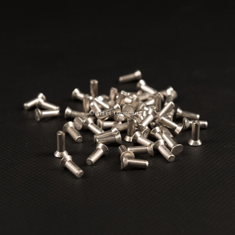 Rivets inox tête fraisée 4x12mm - 50 pièces