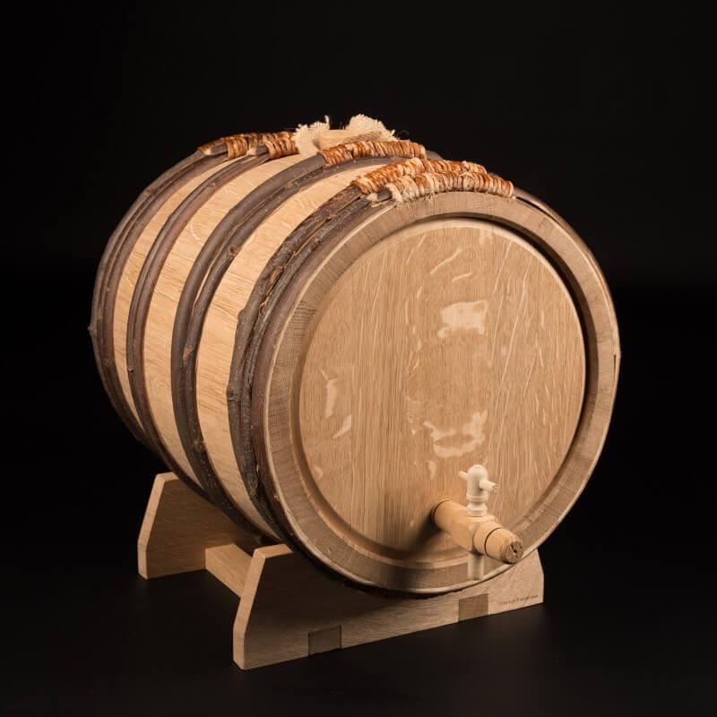 Tonneau chêne – cerclage bois + accessoires