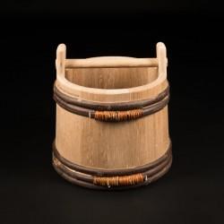 Seau chêne 11 Litres - Le Rustique Ergonomique