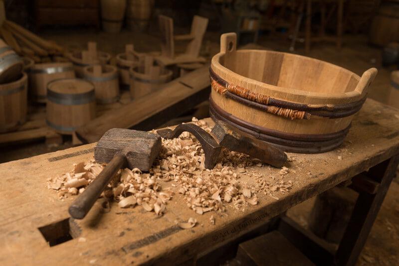 Baquet cerclage bois