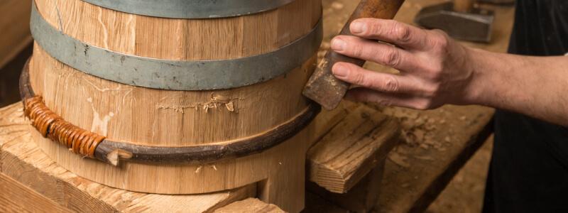 Seau chêne cerclage bois